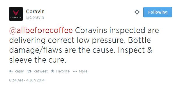 Coravin tweet